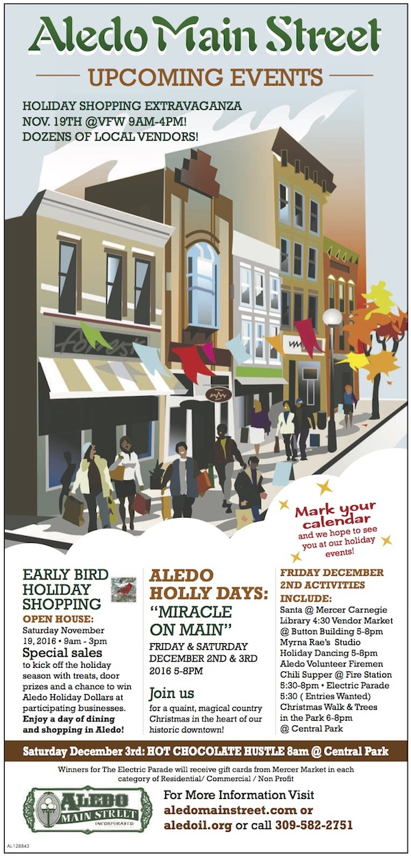 Aledo Main Street Winter Events